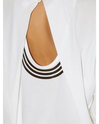 Y-3 - White Open-back Jersey Top - Lyst