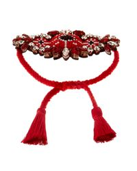 Shourouk - Red Bora Amerindien Bracelet - Lyst
