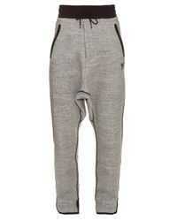 Y-3 - Gray Digital Jersey Track Pants for Men - Lyst