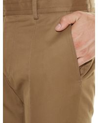 Valentino - Brown Contrast-panel Straight-leg Trousers for Men - Lyst