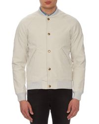 A.P.C. | Natural Teddy Seven Cotton Bomber Jacket for Men | Lyst