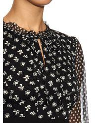 Diane von Furstenberg - Black Fionna Printed Silk Dress - Lyst