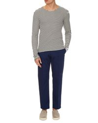J.W. Brine - Blue Ralph Straight-leg Cotton Trousers for Men - Lyst