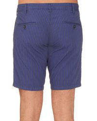 J.W. Brine - Blue Brody Striped Cotton Trousers for Men - Lyst