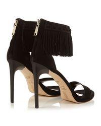 Diane von Furstenberg - Black Sian Fringed Sandals - Lyst