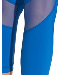 Alala - Blue Captain Mesh-insert Cropped Performance Leggings - Lyst