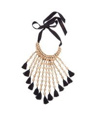 Figue - Blue Sina Shell And Tassel Necklace - Lyst