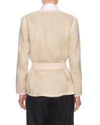 Vince - Natural Wrap Cotton-Blend Jacket - Lyst
