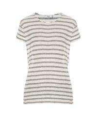 Vince - Multicolor Striped Linen-jersey T-shirt - Lyst