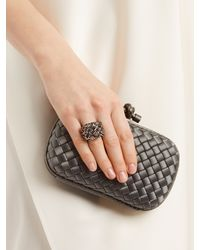 Bottega Veneta - Metallic Tourmaline, Yellow-gold And Silver Ring - Lyst