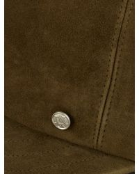 Maison Michel - Brown Gareth Suede Cap for Men - Lyst