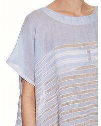 Lemlem - White Alma Open-weave Stripe Top - Lyst