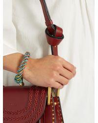 Aurelie Bidermann - Green Maya Bead-embellished Bracelet - Lyst