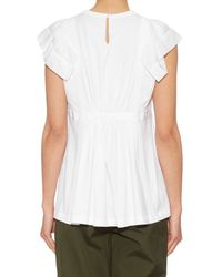 N°21 - White Cotton-voile Jersey Top - Lyst