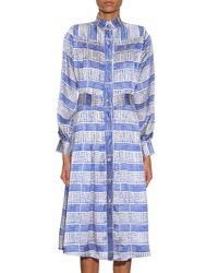 Duro Olowu - Multicolor Harlem Deco-Print Silk Dress - Lyst