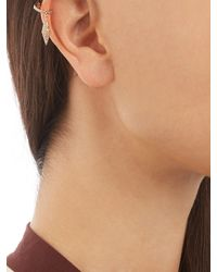 Elise Dray - Metallic Diamond & Pink-gold Ear Cuff - Lyst