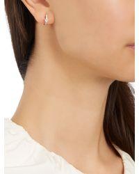 Elise Dray - Multicolor Diamond, Topaz & White-gold Mini Hoop Earring - Lyst