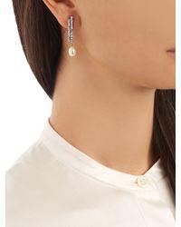 Elise Dray - Metallic Diamond, Pearl & White-gold Earring - Lyst