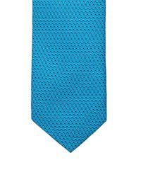 Mathieu Jerome - Blue Micro Geometric-jacquard Silk Tie for Men - Lyst