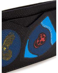 Alexander McQueen | Blue Badges-print Leather Cardholder for Men | Lyst