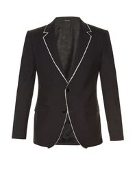 Alexander McQueen - Black Notch-lapel Raw-edge Jacket for Men - Lyst