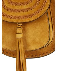 Chloé Brown Hudson Mini Suede Shoulder Bag