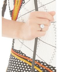 Bottega Veneta - Metallic Cubic Zirconia And Silver Ring - Lyst