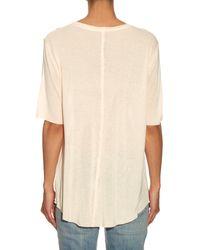 Raquel Allegra - Orange Jersey Short-sleeved T-shirt - Lyst