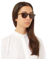 Céline - Brown Thin Freddy D-frame Sunglasses - Lyst