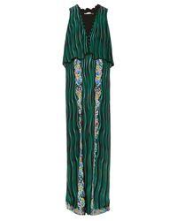 Mary Katrantzou   Green Fairburn Snuffbox-print Silk Maxi Dress   Lyst