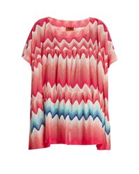 Missoni   Multicolor Oversized Zigzag-knit Kaftan   Lyst