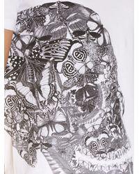 Alexander McQueen | Black Butterfly Skull Print T-shirt for Men | Lyst
