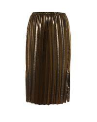 Étoile Isabel Marant | Metallic Malden Pleated Lamé Midi Skirt | Lyst