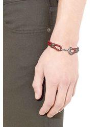 Bottega Veneta - Brown Intrecciato Leather Bracelet - Lyst