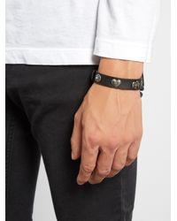 Valentino - Multicolor Multi-charm Leather Bracelet for Men - Lyst