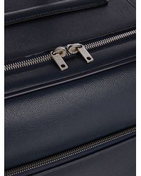 Valextra - Blue Grained-leather Suitcase for Men - Lyst