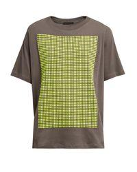 Christopher Kane | Gray Stud-embellished Cotton-jersey T-shirt for Men | Lyst