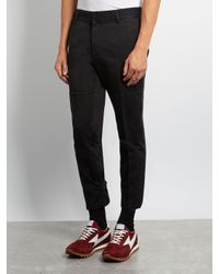 Marc Jacobs - Black Cropped Cotton Trousers for Men - Lyst