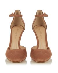 Gianvito Rossi - Natural 54 Suede Pumps - Lyst