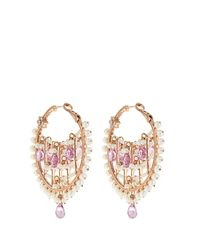 Maria Tash - Multicolor Diamond, Sapphire, Pearl & Rose-gold Earrings - Lyst
