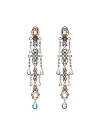 Lanvin - Metallic Ginger Crystal-embellished Earrings - Lyst