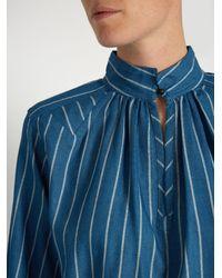 Trademark - Blue Hardin Striped Cotton Shirt - Lyst