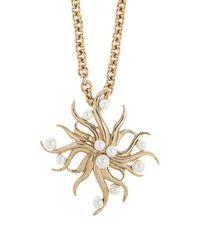 Oscar de la Renta - Metallic Sea Swirl Brooch And Necklace - Lyst