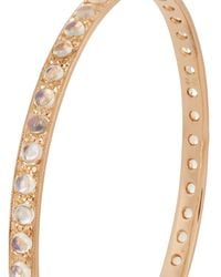 Irene Neuwirth - Metallic Rainbow Moonstone & Rose-gold Bangle - Lyst