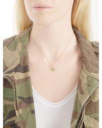 Ileana Makri - Metallic Diamond, Sapphire, Tsavorite & Gold Necklace - Lyst