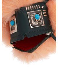 Fendi   Pink Hypnoteyes Fur, Snakeskin And Leather Bag Charm   Lyst