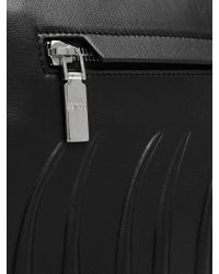 Alexander McQueen - Black Rib Cage-embossed Leather Pouch for Men - Lyst