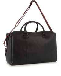 Alexander McQueen | Black Grained-leather Holdall for Men | Lyst