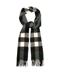 Burberry - Multicolor Checked Cashmere Scarf for Men - Lyst
