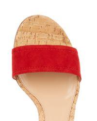 Gianvito Rossi - Red Rikki Cork Block-heel Sandals - Lyst